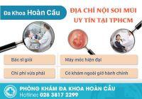 Thực hiện nội soi mũi an toàn hiệu quả ở đâu tại TPHCM?