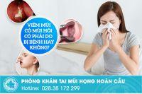 Viêm mũi có mùi hôi có phải do bị bệnh hay không?