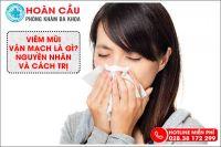 Viêm mũi vận mạch là gì? Nguyên nhân và cách trị hiệu quả